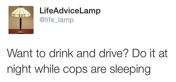 Don't ask advice from a lamp – LolSnaps.com
